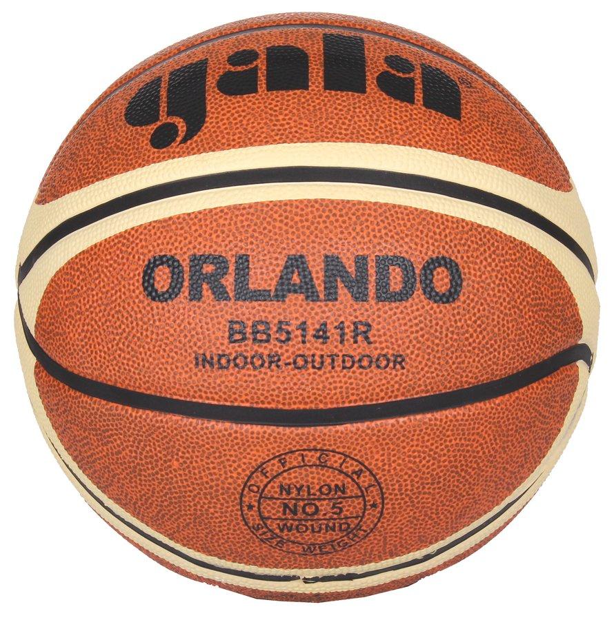Oranžový basketbalový míč Orlando, Gala - velikost 5