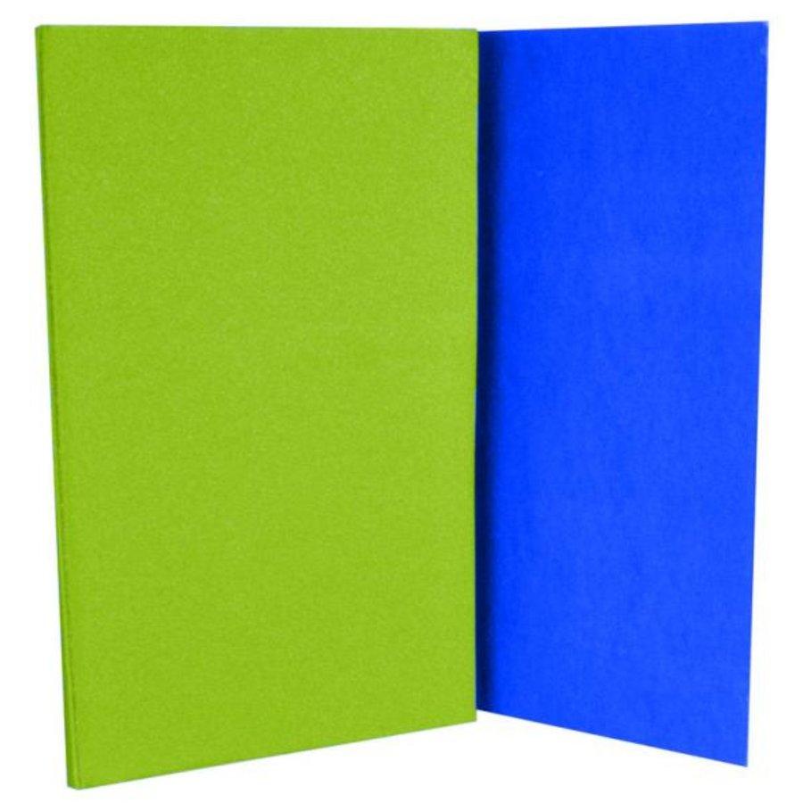 Modro-zelená pěnová skládací karimatka Sedco - délka 180 cm, šířka 50 cm a tloušťka 0,8 cm