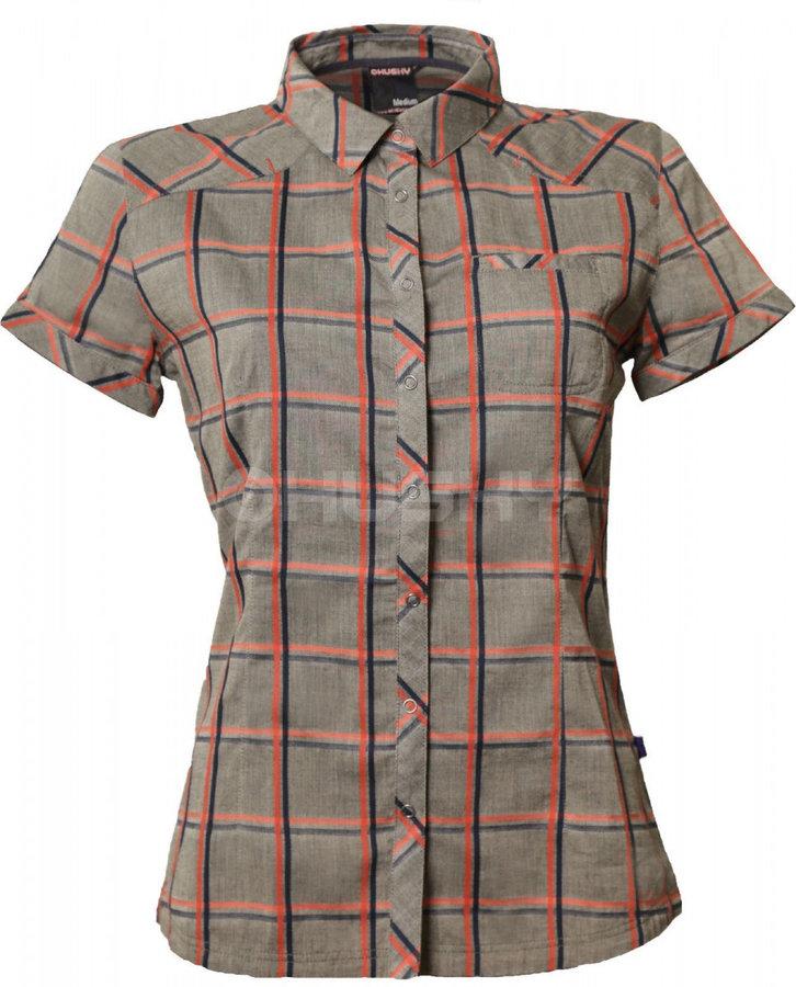 Šedá dámská košile s krátkým rukávem Husky - velikost S