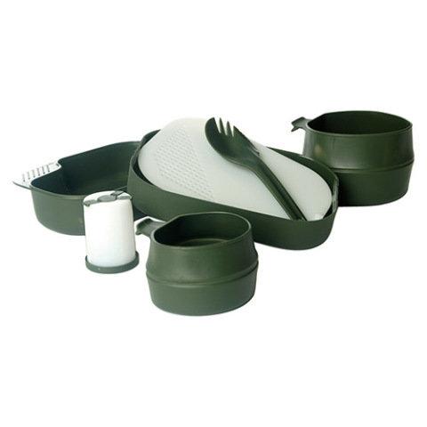 Kempingové nádobí - Nádobí jídelní WILDO® Camp-A-Box sada 7 dílů ZELENÉ