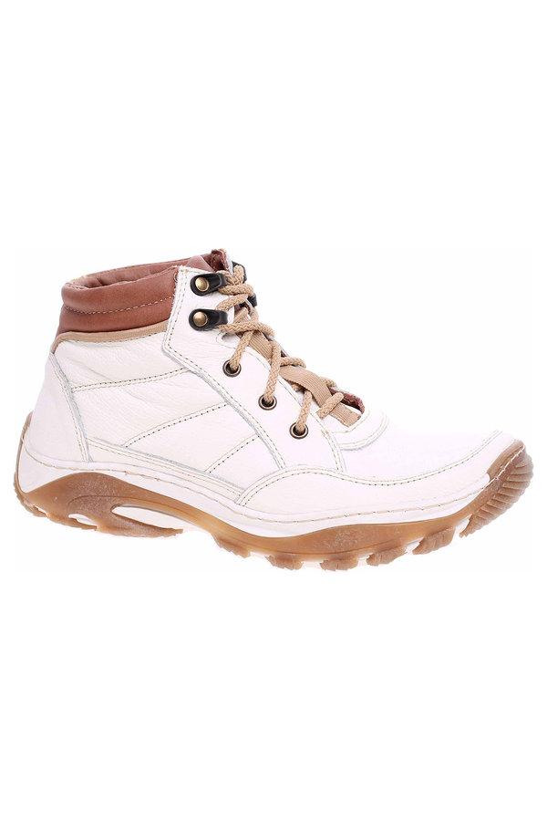 Bílé dámské trekové boty Hujo