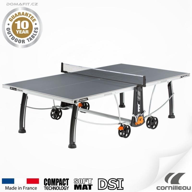 Šedý venkovní stůl na stolní tenis 300 S, Cornilleau
