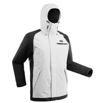 Bílo-černá pánská snowboardová bunda Wed'ze