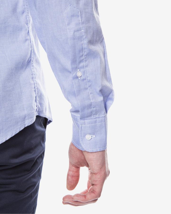 Modrá pánská košile s dlouhým rukávem Trussardi Jeans - velikost 41