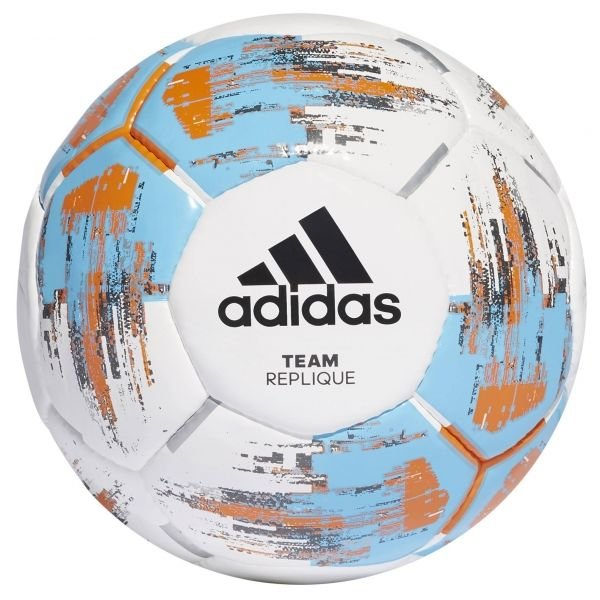 Bílo-modrý fotbalový míč Adidas
