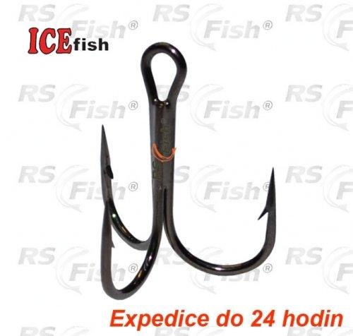 Trojháček ICE Fish - velikost 1/0 - 1 ks