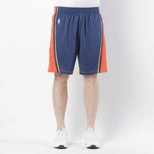 Kraťasy - Mitchell & Ness shorts Golden State Warriors 2009 - 10 navy Swingman Shorts - XL