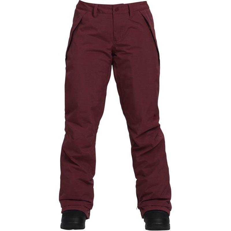 Červené dámské snowboardové kalhoty Burton - velikost M