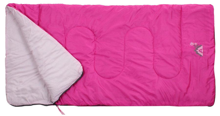 Růžový dětský spací pytel Abbey Camp - délka 140 cm