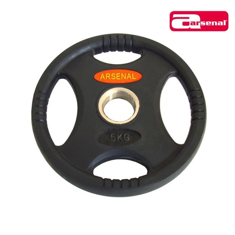 Kotouč na činky - Kotouč 4-grip ARSENAL litina 5 kg - 50 mm
