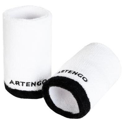 Bílo-černé tenisové potítko Artengo - 2 ks