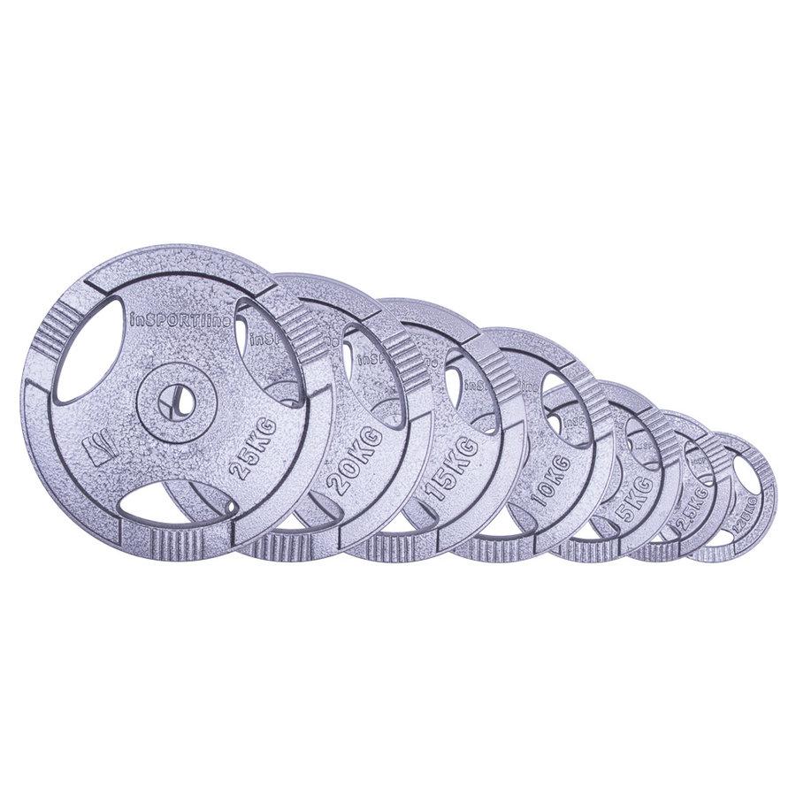 Kotouč na činky - Sada ocelových kotoučů inSPORTline Hamerton 1,25-25kg