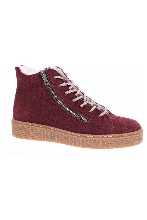 Červené dámské kotníkové boty Rieker