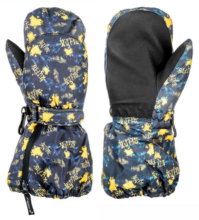 Modro-žluté dětské lyžařské rukavice Relax