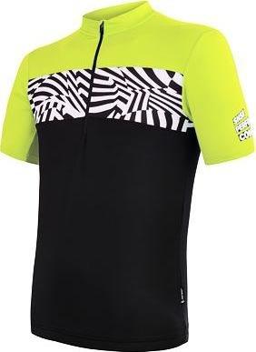 Černo-žlutý pánský cyklistický dres Sensor