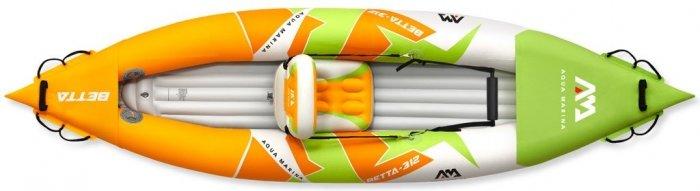 Oranžovo-zelený nafukovací kajak pro 1 osobu Betta 312, Aqua Marina