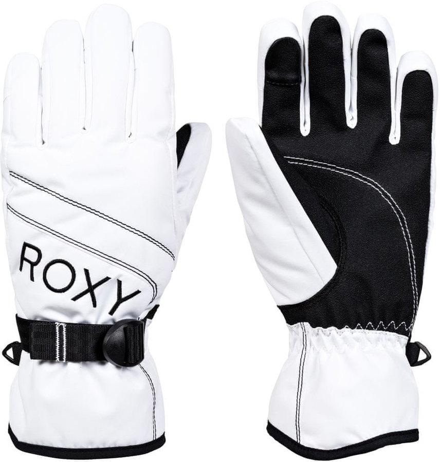 Bílé dámské lyžařské rukavice Roxy - velikost L
