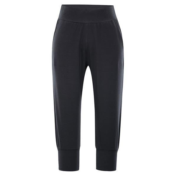 Černé 3/4 dámské kalhoty Alpine Pro