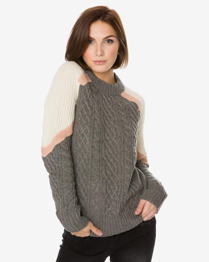Šedý dámský svetr Desigual - velikost XS