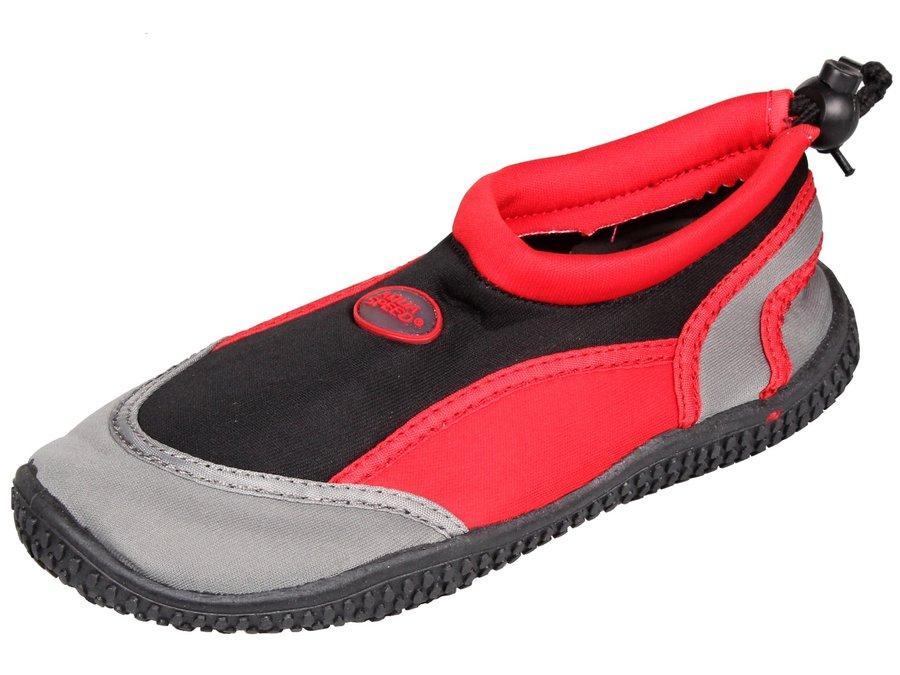 Černo-červené dětské boty do vody 21B, Aqua-Speed - velikost 28 EU