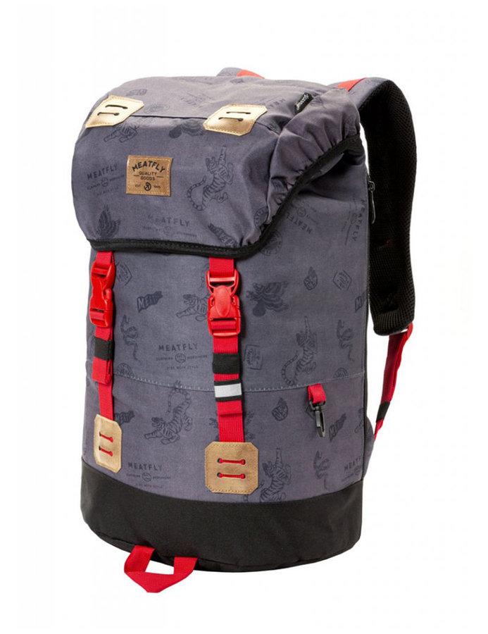 Batoh - Meatfly Pioneer 3 Backpack B - Stamps Grey Velikost: JEDNOTNÁ VELIKOST