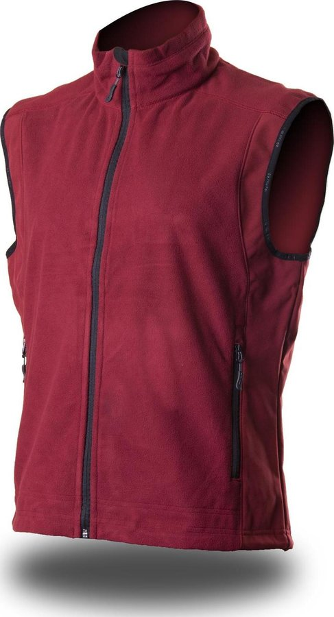 Červená softshellová pánská vesta Trimm - velikost XXL