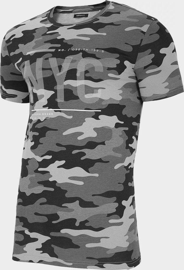 Šedé pánské tričko s krátkým rukávem Outhorn
