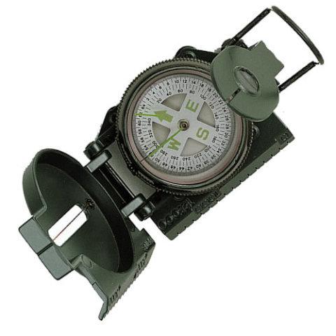 Kompas - Kompas TACTICAL MARCHING kovové tělo ZELENÝ