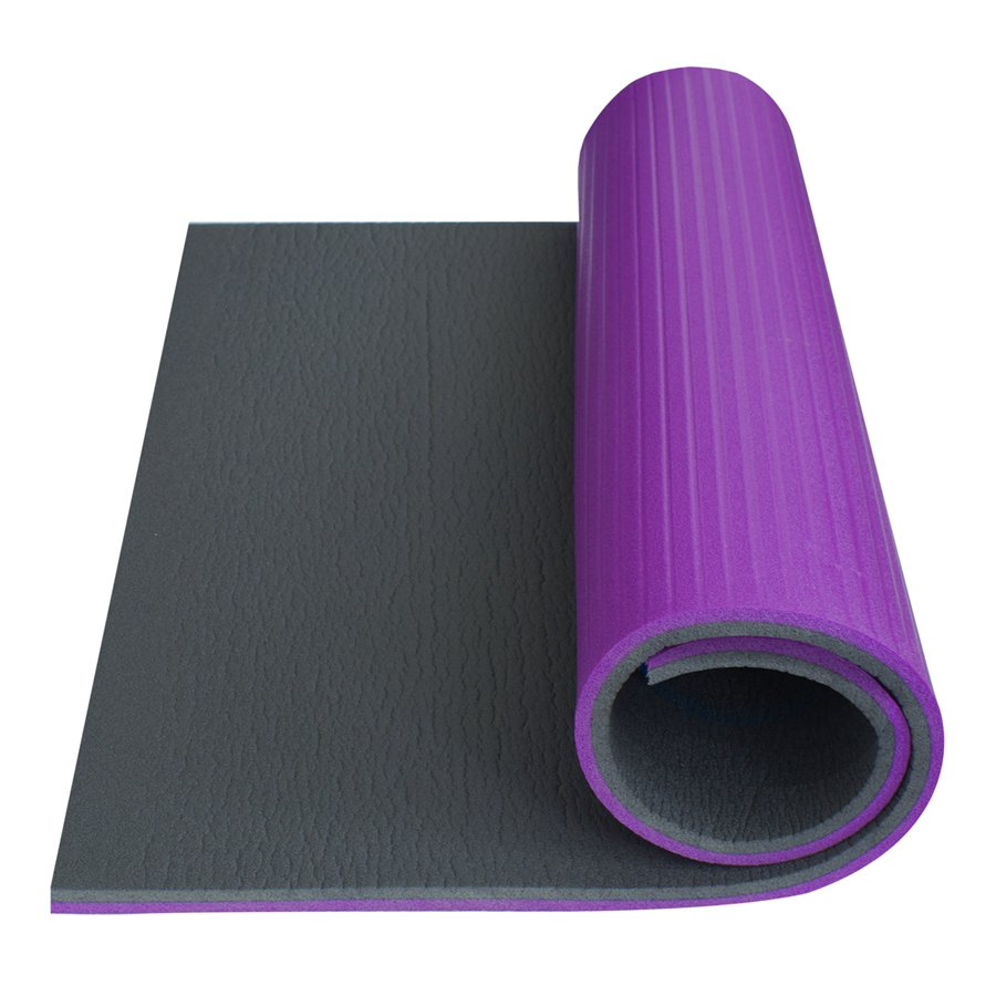 Fialová podložka na cvičení - tloušťka 1,4 cm