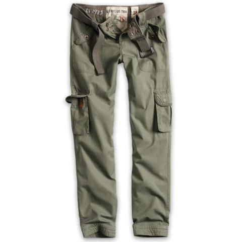 Kalhoty - Kalhoty dámské PREMIUM SLIMMY ZELENÉ