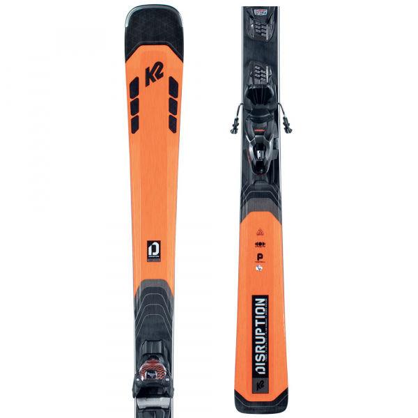 Černo-oranžové pánské skialpové lyže s vázáním K2