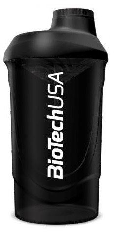 Černý shaker BioTech USA - objem 600 ml