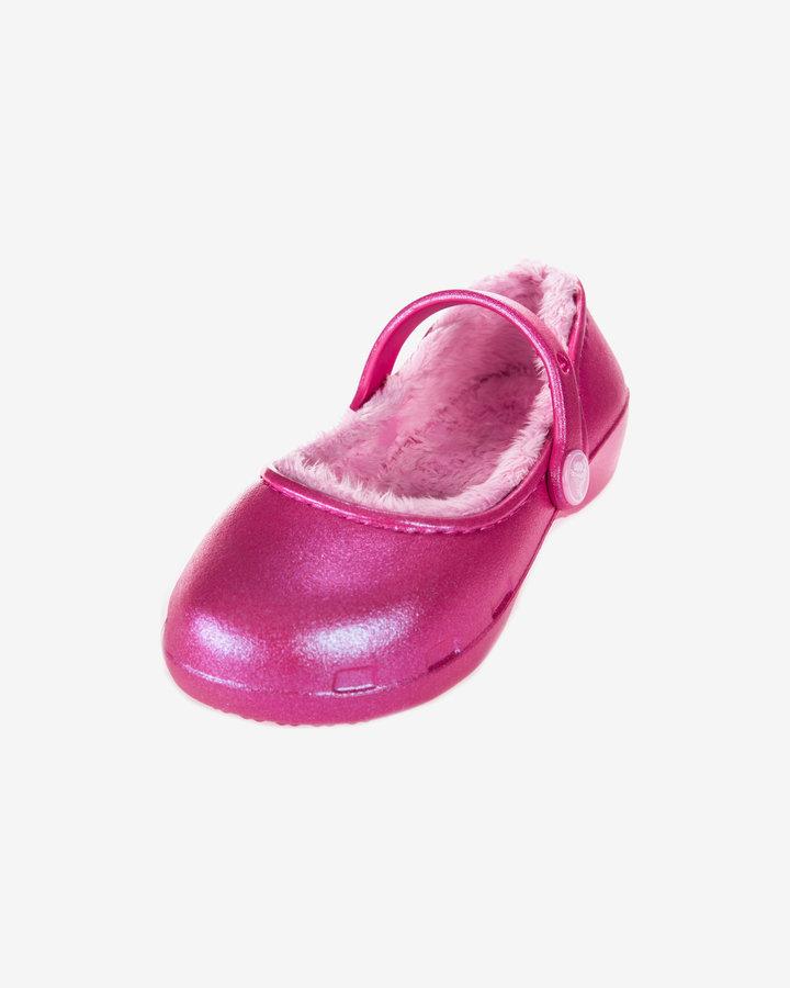 Růžové baleríny Crocs - velikost 29-30 EU