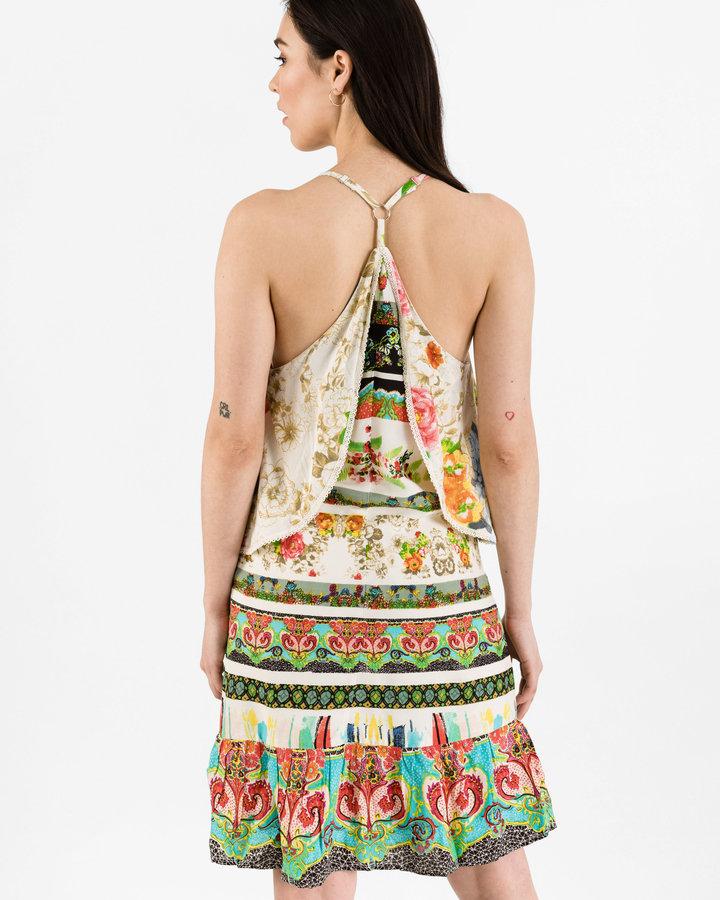 Různobarevné dámské šaty Desigual - velikost 40