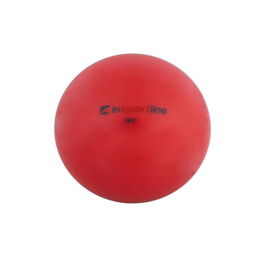 Červený míč na jógu inSPORTline - 3 kg