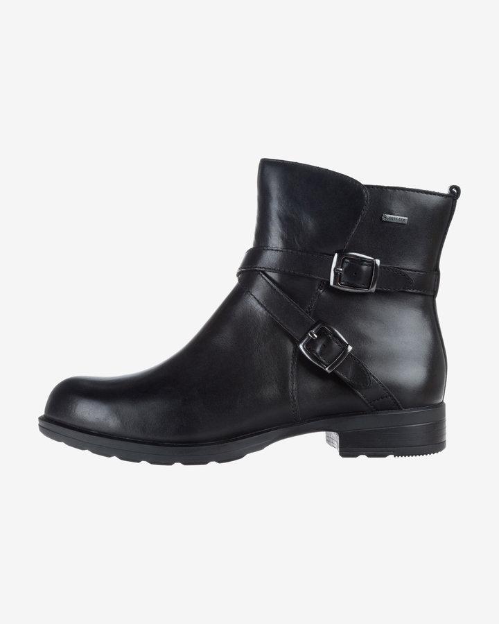 Černé dámské kotníkové boty Clarks