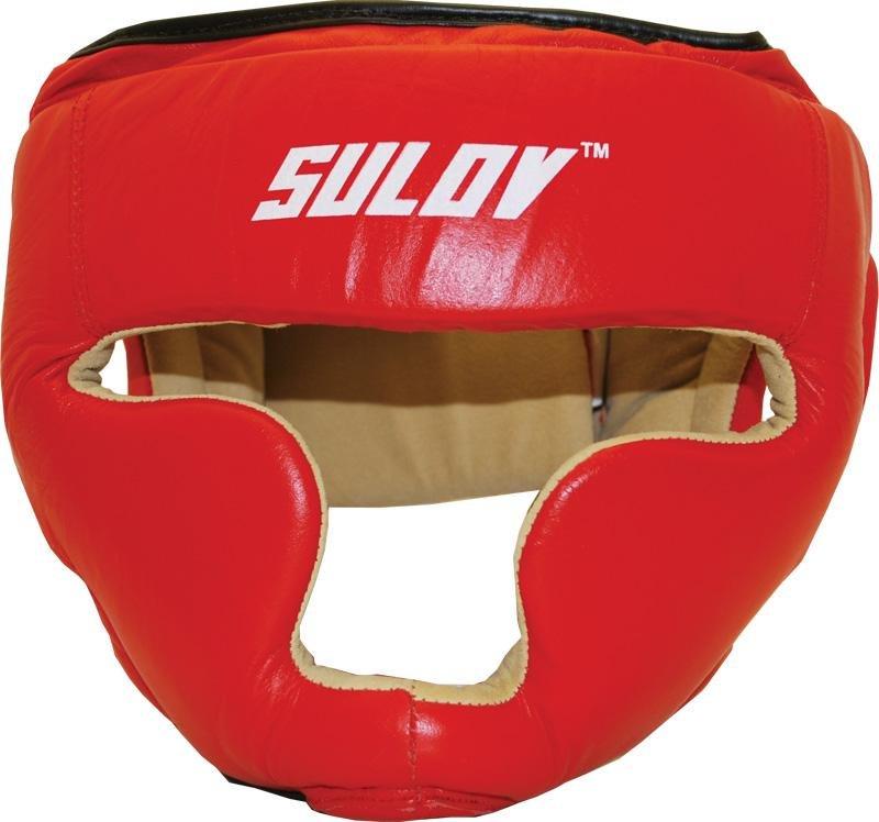Červená boxerská přilba Sulov