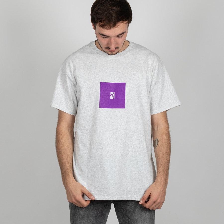 Šedé pánské tričko s krátkým rukávem Poetic Collective