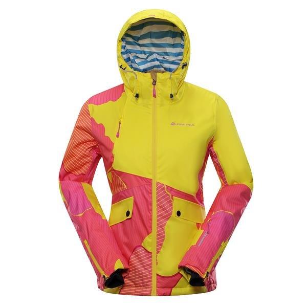 Žlutá dámská lyžařská bunda Alpine Pro - velikost XS
