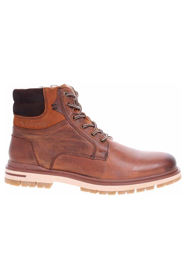 Hnědé pánské kotníkové boty s.Oliver