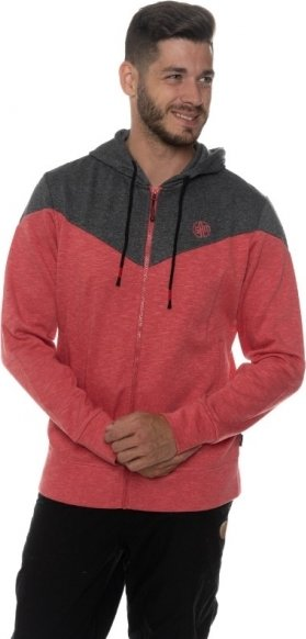 Červená pánská mikina s kapucí Sam 73 - velikost L
