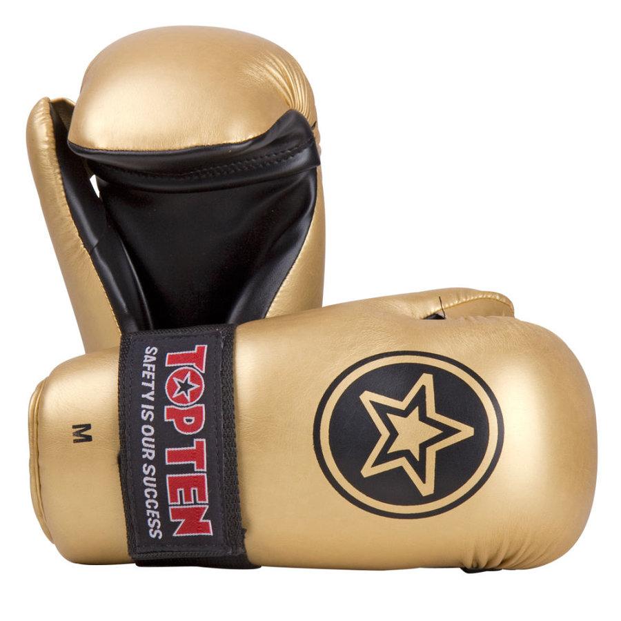 Zlatá karate rukavice Top Ten - velikost L