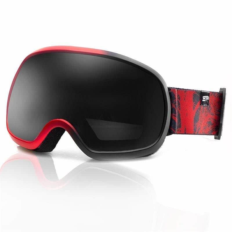 Černo-červené lyžařské brýle Spokey
