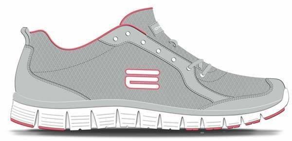 Šedé dámské běžecké boty flex V5, Oxide - velikost 37 EU