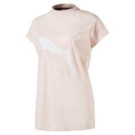 Béžové dámské tričko s krátkým rukávem Puma