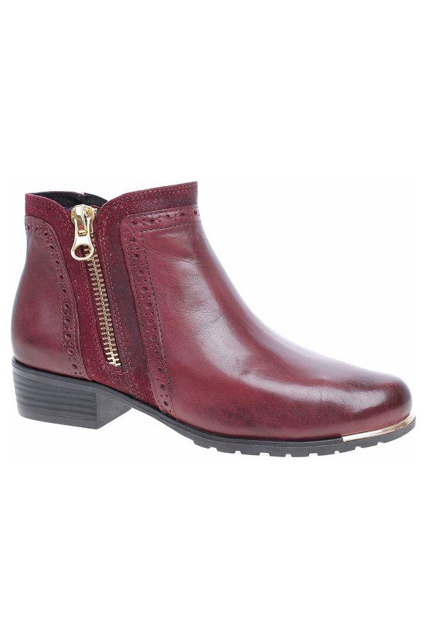 Červené dámské zimní boty Caprice - velikost 36 EU