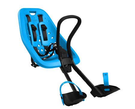 Modrá dětská sedačka na kolo přední umístění Thule - nosnost 15 kg