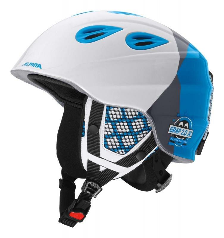 Černá dětská lyžařská helma Alpina - velikost 51-54 cm