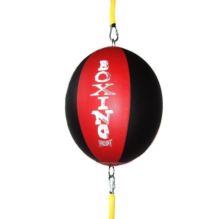 Černo-červená závěsná boxovací hruška Shindo