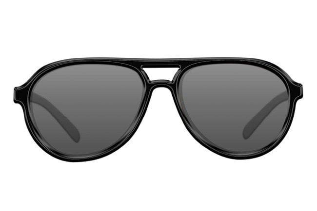 Sluneční brýle - Korda Sluneční brýle Aviators Sunglasses Black/Grey